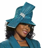 Ladies Special Occasion Seaport Color Hat by Donna Vinci H2138
