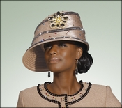 Ladies Unique Style Fashion Almond Hat from Donna Vinci H1427