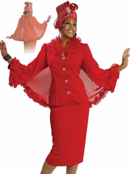 Lady In Red Special Occasion Holiday Church Suit by Donna Vinci 11060
