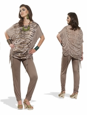 Love The Queen Adjustable Draw String Tunic and Legging Set 17146