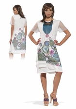Love The Queen Flirty White Spting & Summer Dress 17136