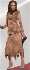 Love The Queen Tye Dye Designer Knit in Fall Camel Color 17096