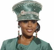 Lovely Womens Wasabi Green Special Occasion Hat by Donna Vinci H2121
