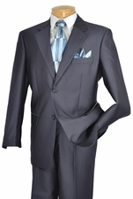 Men's 2 Button Executive Suit with Shiny Windowpane Pattern Suit (S1211)