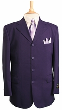 Men's 2 Piece 4 Button Dacron Poplin Suit (S1241)