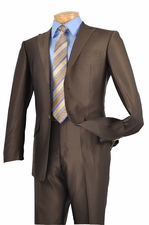 Men's 2 Piece Slim Fit Suit with Soft Tone on Tone Stripes (S1203)