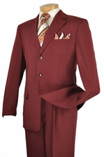 Men's 2 Piece Solid Color Poplin Dacron Fabric Suit (S1243)