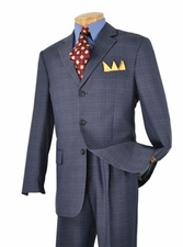 Men's 3 Button Glen Plaid Suit (R1222)