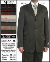 Men's 3 Button, Single Breasted Suit (M047)