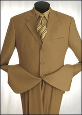 Men's 3 Button Suit with Narrow Banker Stripes On Sale  (P1112)