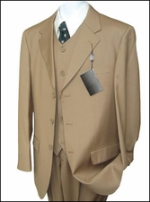 Men's 3 Piece Suit Wool Feel Poly Rayon Best Price (P1032)