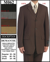 Men's 3pc. Designer Business Suit (M062)