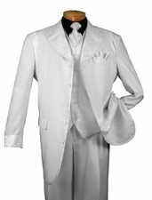 Men's 5 Button Fashion Suit with Jacquard Vest (R1184)