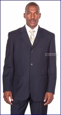 Men's Classic Business & Formal Occasion Blue Baroni Italian Suit