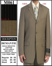 Men's Designer 3pc Single Breasted Suit (M061)