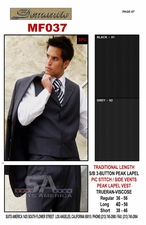 Men's Designer 3pc Suit (MF037)