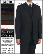 Men's Designer Single Breasted Father Of The Bride Suit  (M070)