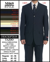 Men's Designer Solid Father Of Groom Suit (M069)