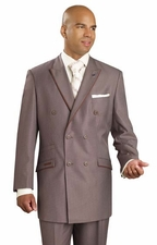 Men's Double Breasted Houdstooth Suit (S1293)