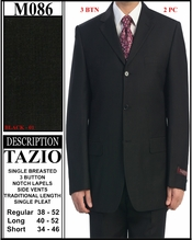 Men's Groom Black Suit (M086)