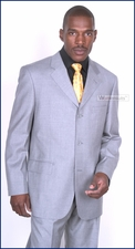Men's Light Grey Career Business & Formal Occasion Stylish Italian Suit