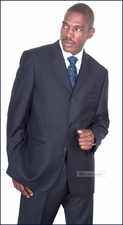 Men's Navy Baroni Italian Suit On Sale