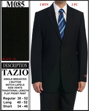 Men's Solid Black Suit Below Wholesale (M085)