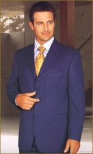 Men's Suit, Baroni $1150 Super 150's Italian Suit, Super Fine Wool Suit