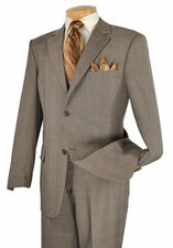 Mens Classic Business Windowpane Pattern Suit (S1212)