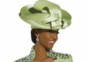 Mother Of The Bride First Lady Church Hat in Green Glow H1495