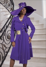 Top Quality Special Occasion Purple Dress by Donna Vinci 5423