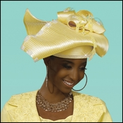 Top Quality Sunday Ladies Banana Church Hat by Donna Vinci H2090