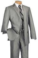New Slim Fit Shiny Solid Men's Suit (S1204)