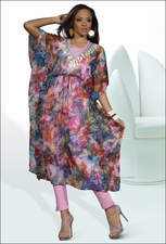 Printed Chiffon Ladies Casual Wear by Love The Queen 17057