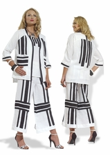 Sassy in Stripes Ladies Linen Set by Donna
