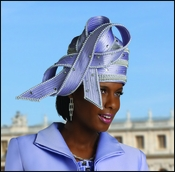 Simply Elegant Ladies Special Occasion Lilac Hat by Donna Vinci H1412