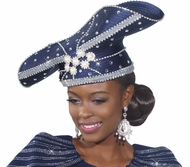 Sparkling Glamorous Womens Church Hat  H2152