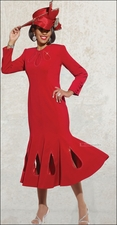 Special Occasion Holiday Gorgeous Womens Red Dress with Unique Styling 11242
