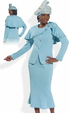 Spring Head Turner by Donna Vinci Knit Church Suit 2980
