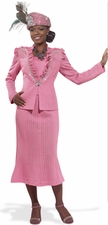 Women's Bubblegum Pink Formal Knit Suit 2982