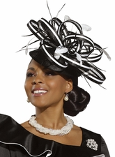 Stop and Stare Fashionista Womens Church Hat by Donna Vinci H2165