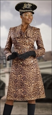 Truly Flattering Leopard Printed Novelty Fabric Dress by Donna Vinci 5392