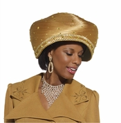 Truly Unique Womens Mustard High Fashion Hat by Donna Vinci H2119