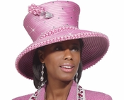 Truly Unique Womens Purple High Fashion Hat by Donna Vinci  H2164