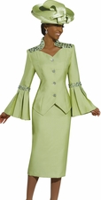 Women's Donna Vinci Green Glamour Suit 11217