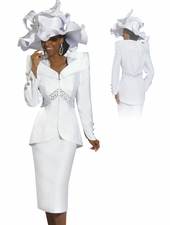 Women's Donna Vinci High Fashion Rhinestone Church Suit 11273