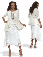 Women's Fashionable Casual Novelty Lace Tunic Set 17122
