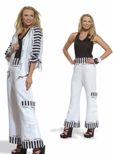 Women's Fashionable In Strips Jumpsuit by Donna Vinci 14192