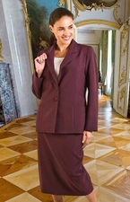 Women's Usher Suit, Choir Suit, Business Suit (JS-101A-plum)