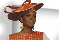 Womens Designer Church First Lady Hat by Donna Vinci in Carnelian H2093